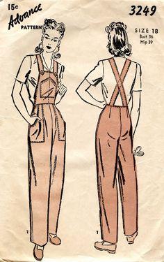 OVERALLS-WOMEN-1940-2