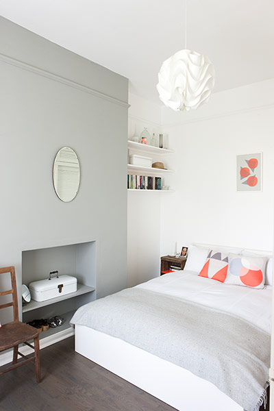 White and minimal London flat - the bedroom