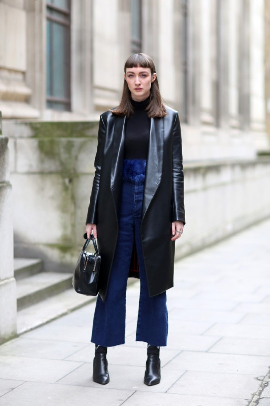 Mandatory Credit: Photo by Silvia Olsen/REX (4443722cc) Street style Street Style at Autumn Winter 2015, London Fashion Week, Britain - 20 Feb 2015
