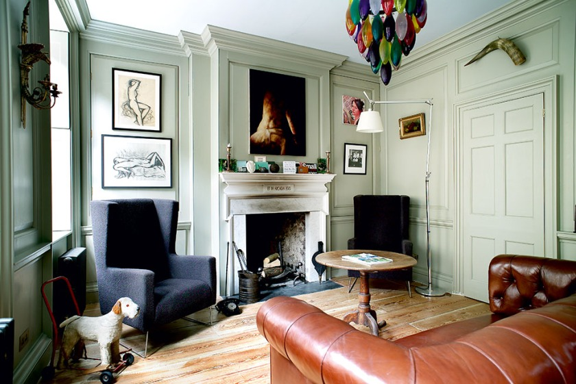 London, House, fireplace